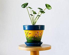 Nádoby - Terakotový kvetináč - V západe jesenného slniečka - 11294903_