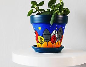 Nádoby - Terakotový kvetináč - Pekný les - 11295003_