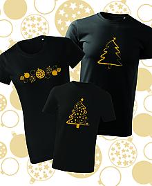 Tričká - Vianočné rodinné tričká - zlatý strom - 11295512_