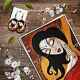 Obrazy - Print a náušnice - Kamala - 11295613_