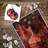 Obrazy - Print a náušnice - Mrs Poppy - 11295629_