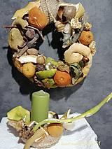 Dekorácie - jesenný svietnik a venček- kým prídu Vianoce - 11294499_