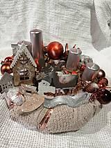 Dekorácie - adventný svietnik - 11294616_