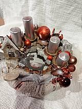 Dekorácie - adventný svietnik - 11294620_