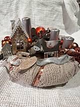 Dekorácie - adventný svietnik - 11294623_