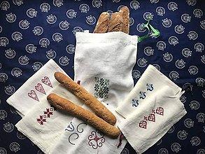 Úžitkový textil - Plátené vrecúško na pečivo - 11294334_