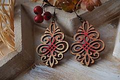 - Náušnice vianočné červené - 11296644_