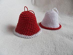 Dekorácie - Háčkovaný zvonček veľký - vianočná dekorácia -  sada 10ks - 11294153_