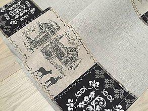 Úžitkový textil - lnená štóla - 11295306_