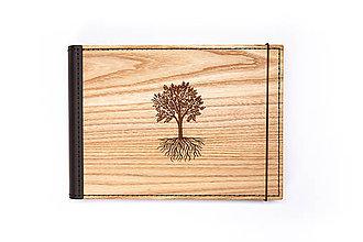 Papiernictvo - Luxusný drevený fotoalbum – Dub - 11297656_