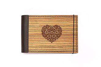 Papiernictvo - Luxusný drevený fotoalbum – Zebrano mini - 11297767_