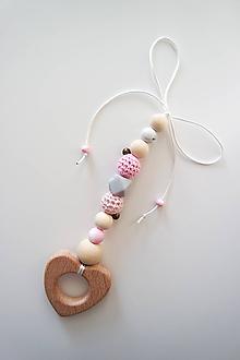 "Hračky - Kúsatko s rolničkou ""Pink"" - 11295508_"