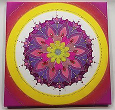 Obrazy - Mandala z piesku Natria - 11295125_
