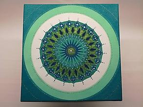 Obrazy - Mandala z piesku Samson - 11295229_