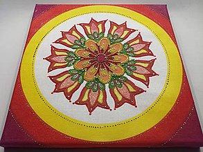 Obrazy - Mandala z piesku Nova - 11295406_