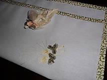 Úžitkový textil - Obrúsok vyšívaný- vianočná tématika. - 11294742_