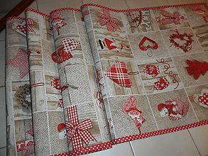 Úžitkový textil - Vianočný obrus stredový. - 11294178_