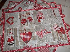Úžitkový textil - Vianočné prestieranie sada 5 ks - 11294207_