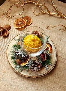 Svietidlá a sviečky - Pomarančový svietnik - 11294371_
