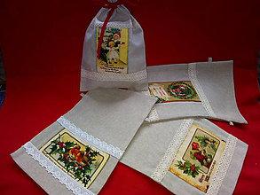 Úžitkový textil - vrecká Mikulášske, vianočné - 11296836_