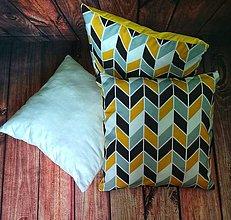 Úžitkový textil - Vankúš s moderným vzorom - 11294887_