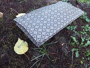 Úžitkový textil - desiatové voskované vrecko -hnedé - 11296153_