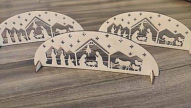 Dekorácie - Vianočná drevená ozdoba - Betlehem - 11294033_