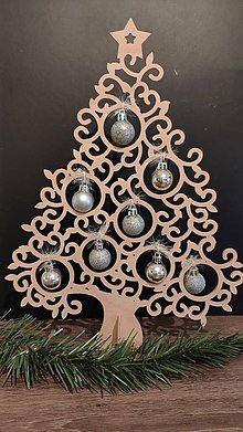 Dekorácie - Vianočný stromček na stôl - 11294099_