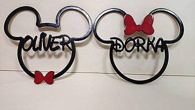 Dekorácie - Mickey Mouse + Meno - 11294458_