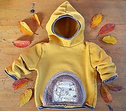 Detské oblečenie - Mikina pro skřítky hořčicová (98) - 11295782_