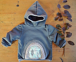Detské oblečenie - Mikina pro skřítky šedá (80) - 11295896_