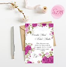 Papiernictvo - Svadobné oznámenie S178 - 11297377_