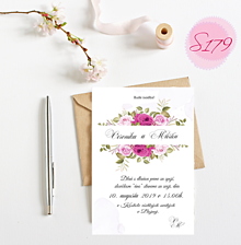 Papiernictvo - Svadobné oznámenie S179 - 11297401_