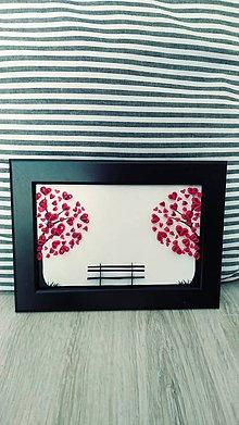 Obrázky - 3D obrázok z papierových prúžkov - romantické zátišie - 11293738_