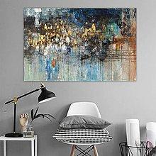 Obrazy - Zlatý dážď, 140x90, abstraktný obraz, abstraktné obrazy - 11296605_