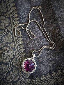 Iné šperky - Prívesok strieborný – Hviezdička,  korálkovanie - 11297826_