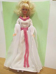 Hračky - Biele vílové šaty pre barbie - 11294650_