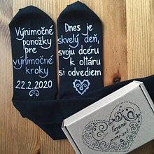 Obuv - Maľované ponožky pre otca nevesty - 11297597_