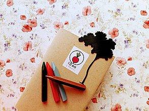 Papiernictvo - Záložka do knihy - strom (Strieborná) - 11294535_