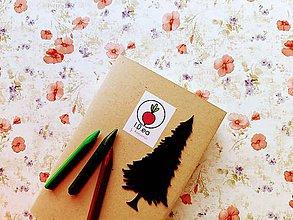 Papiernictvo - Záložka do knihy - strom ihličnan (Strieborná) - 11294552_