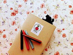 Papiernictvo - Záložka do knihy - veverička (Strieborná) - 11294633_