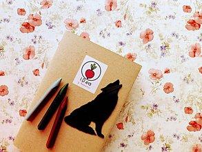 Papiernictvo - Záložka do knihy - vlk (Strieborná) - 11294668_