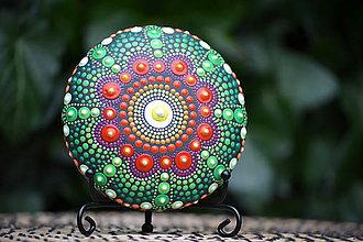 Iné šperky - Mandala Nadherna zelena - 11294294_