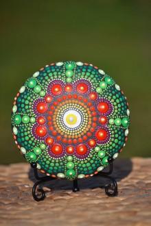 Iné šperky - Mandala Sestra Nadherne zelenej - 11295342_
