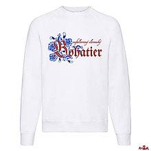 Oblečenie - Bohatierska mikina-červený nápis - 11295576_