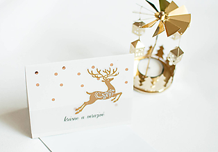 "Papiernictvo - Krásne a mrazivé ""goldish deer"" - 11298087_"