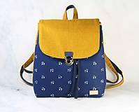 Batohy - batoh Martin modrotlačový žltý 1 (vzor 2) - 11297480_