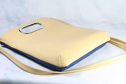 kabelka Elen modrotlačová žltá AM 1