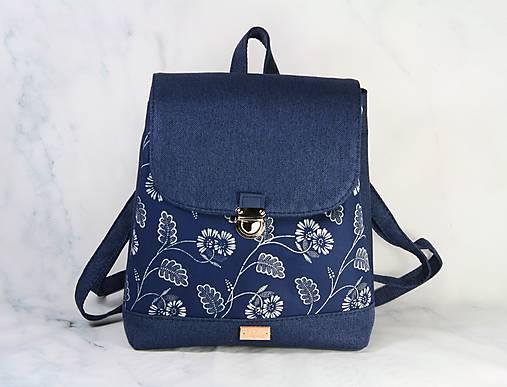 Modrotlačový batoh Martin modrý 3