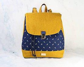 Batohy - batoh Martin modrotlačový žltý 1 - 11297466_